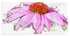 Hand Towel featuring the photograph  Wild Flower Three by Heidi Smith