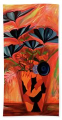 Hand Towel featuring the painting Wild Flowers  A Still Life  by Iconic Images Art Gallery David Pucciarelli