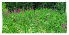 Wild Flowers And Shrubs In Vogelsberg Bath Towel