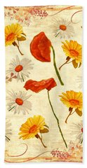 Wild Flowers Vintage Bath Towel