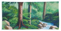 Wild Forest River Hand Towel