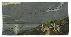 Wild Fowl Shooting Hand Towel by Henry Thomas Alken