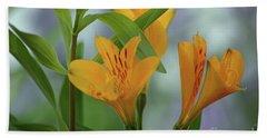 Wild Garden Lilies Bath Towel