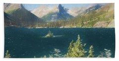 Wild Goose Island Glacier Nat. Park, Montana Bath Towel