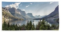 Wild Goose Island In St. Mary Lake - Glacier National Park Bath Towel