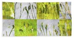 Wild Grass Collage 3 Hand Towel