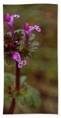 Wild Henbit Flower Loganville Georgia Hand Towel