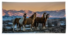 Wild Horse Group Hand Towel
