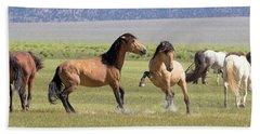 Wild Horses In The Eastern Sierra  Bath Towel
