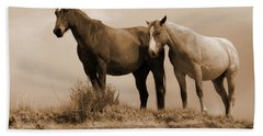 Wild Horses In Western Dakota Bath Towel