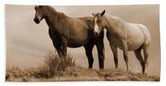 Wild Horses In Western Dakota Hand Towel