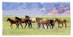 Wild Horses Bath Towel