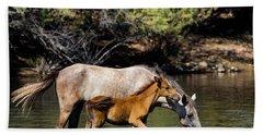 Wild Horses On The Salt River Bath Towel
