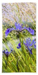 Wild Irises Hand Towel by Marty Saccone