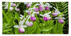 Wild Lady Slippers Hand Towel