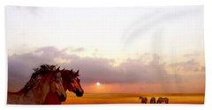 Wild Moorland Ponies Bath Towel