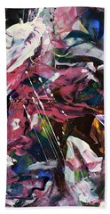 Wild Orchid Abstract Hand Towel