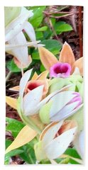 Wild Orchids In Pastel Bath Towel