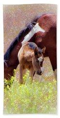 Wild Paint Horses Hand Towel