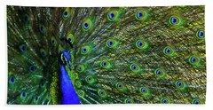 Wild Peacock Hand Towel