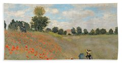 Wild Poppies Near Argenteuil Hand Towel