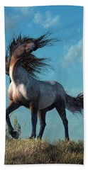 Wild Roan Hand Towel by Daniel Eskridge