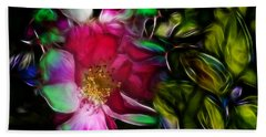 Wild Rose - Colors Hand Towel by Stuart Turnbull