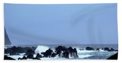 Wild Sea In Madeira Bath Towel