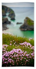 Wild Sea Pinks In Cornwall Hand Towel