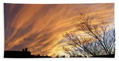 Hand Towel featuring the photograph Wild Sky Of Autumn by Barbara Griffin