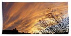 Wild Sky Of Autumn Bath Towel by Barbara Griffin