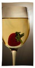 Hand Towel featuring the photograph Wild Strawberry by Joe Bonita