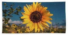 Wild Sunflower Bath Towel by Jay Stockhaus