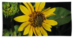 Wild Sunflower Bath Towel