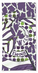 Hand Towel featuring the digital art Wild Thing by Methune Hively
