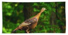 Wild Turkey Profile On Rooftop Bath Towel