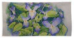 Wild Violets Hand Towel