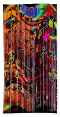 Bath Towel featuring the photograph Wild Wind Chimes by Sue Melvin