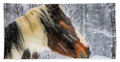 Wild Winter Storm Hand Towel by Elizabeth Dow