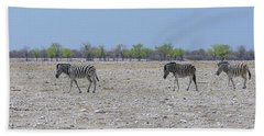 Hand Towel featuring the photograph Wild Zebra Panoramic by Ernie Echols