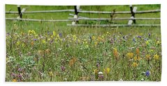 Wildflower Fence Bath Towel
