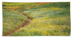 Bath Towel featuring the photograph Wildflower Field Near Diamond Lake In California by Jetson Nguyen