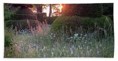 Wildflower Meadow At Sunset, Great Dixter Hand Towel