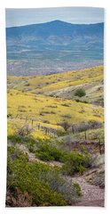 Wildflower Meadows Bath Towel by Karen Stephenson