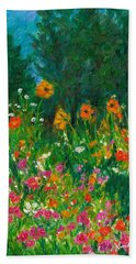 Bath Towel featuring the painting Wildflower Rush by Kendall Kessler