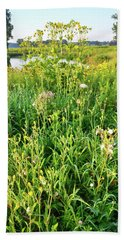 Wildflowers Along Nippersink Creek In Glacial Park Bath Towel