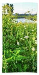 Wildflowers Along Nippersink Creek Trail Bath Towel