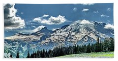 Wildflowers At Sunrise Point Bath Towel by Ansel Price