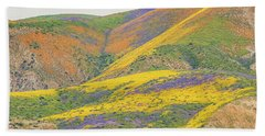 Wildflowers At The Summit Hand Towel by Marc Crumpler