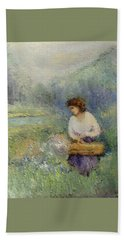 Bath Towel featuring the painting Wildflowers by Gail Kirtz